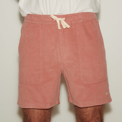 PANAMA CORD WALKSHORT DIRTY PINK