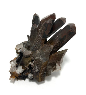 Quartz Cluster with Iron Oxide + Druzy