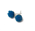 cavansite post earrings