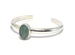 Alex Lozier Jewelry.  Aquamarine Bangle Bracelets from the Mermaid Collection.