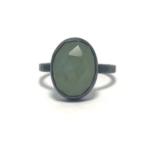 Alex Lozier Jewelry. Aquamarine Ring from the Mermaid Collection.