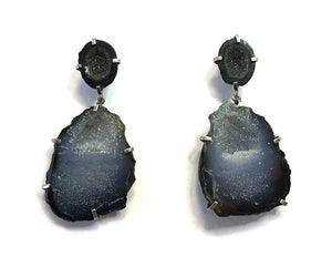 Double Geode Earrings