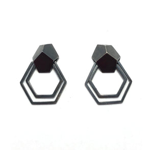Small Hex Dangle Earrings