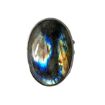 Labradorite Statement Ring.  Handmade by Alex Lozier Jewelry.  Season of the Witch collection.
