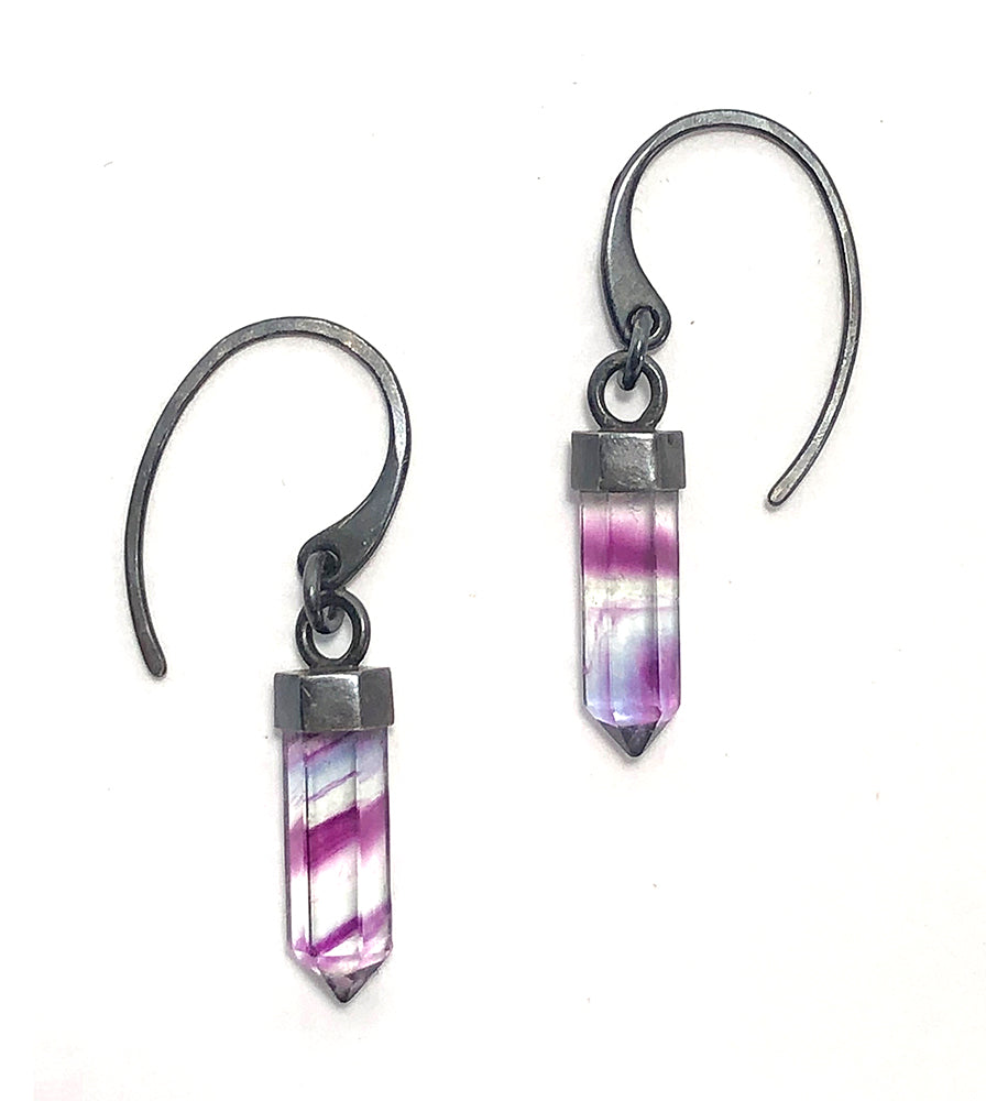 Mini Fluorite Earrings