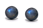 Moonstone  post earrings.  Handmade by Alex Lozier Jewely.