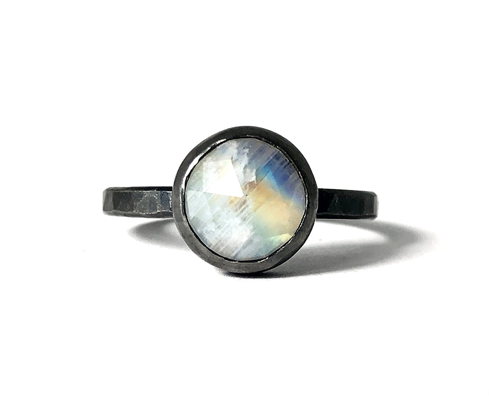 Moonstone Amulet Ring. Handmade by Alex Lozier Jewelry. Season of the Witch collection.