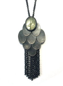 Alex Lozier Jewelry.  Aquamarine Tassel Pendant from the Mermaid Collection.
