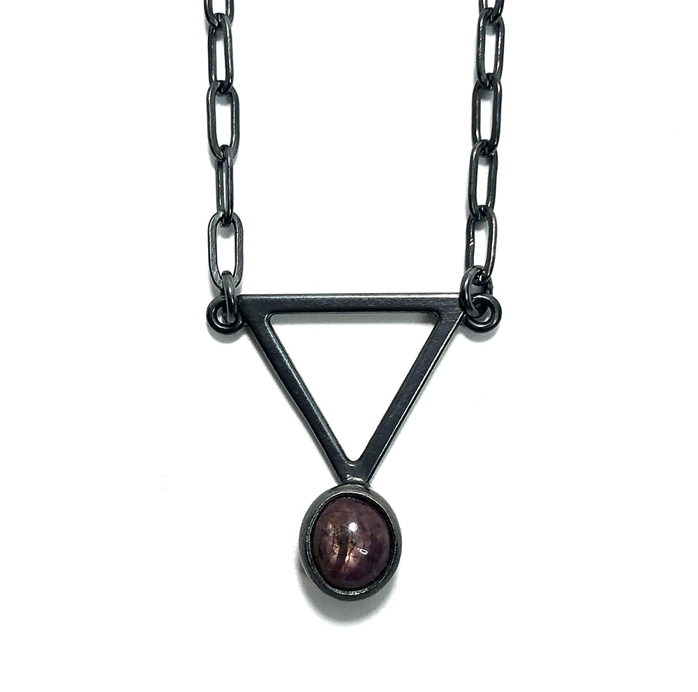 Star Ruby Alchemy Pendant.  Handmade by Alex Lozier Jewelry.  Season of the Witch collection.