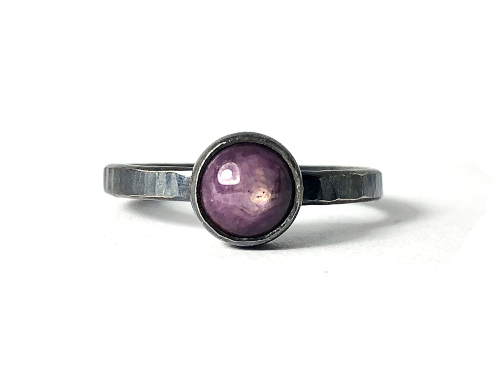 Star Ruby Ring.  Handmade by Alex Lozier Jewelry. Season of the Witch collection.