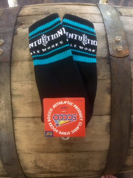 Black & Teal Intuition Logo Socks