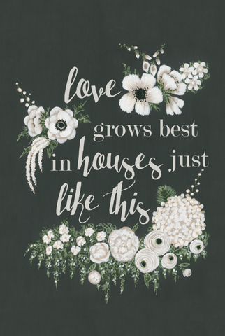 Love Grows Best Saying