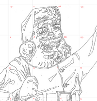 Printable Paint By Number Santa PDF