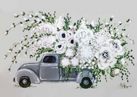 Light Gray Flower Truck