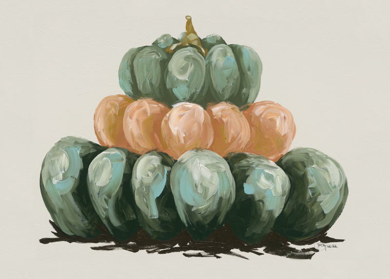 Three Pumpkin Stack Horizontal