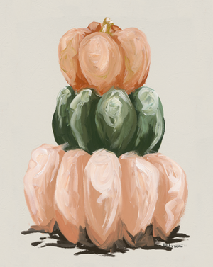 Three Pumpkin Stack Vertical