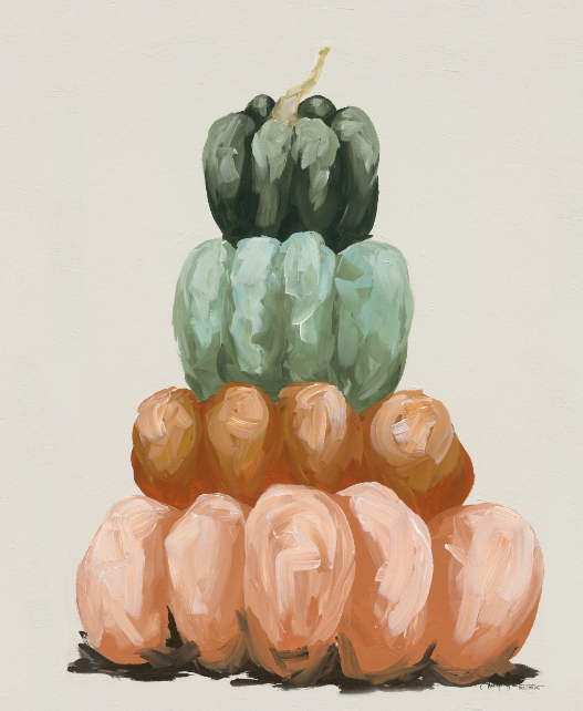 Four Pumpkin Stack Vertical