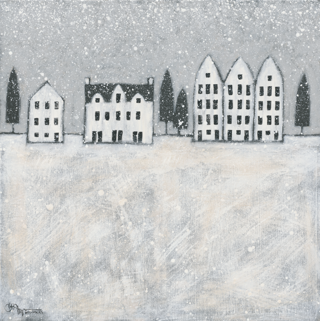 Folk Art Winter City