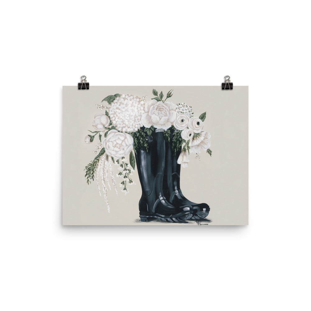 Flowers and Black Boots