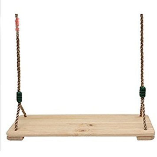 Safari Swings Wood Swing With 72 Rope Swing Set Accessories