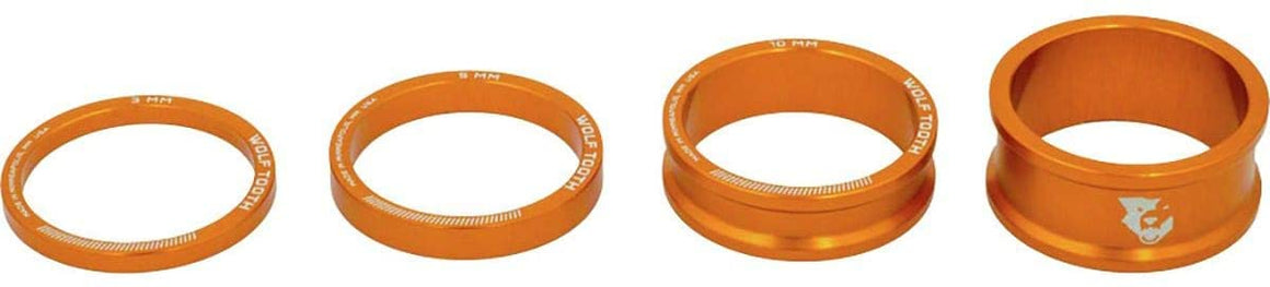 Bling Kit; Headset Spacer Kit, Orange