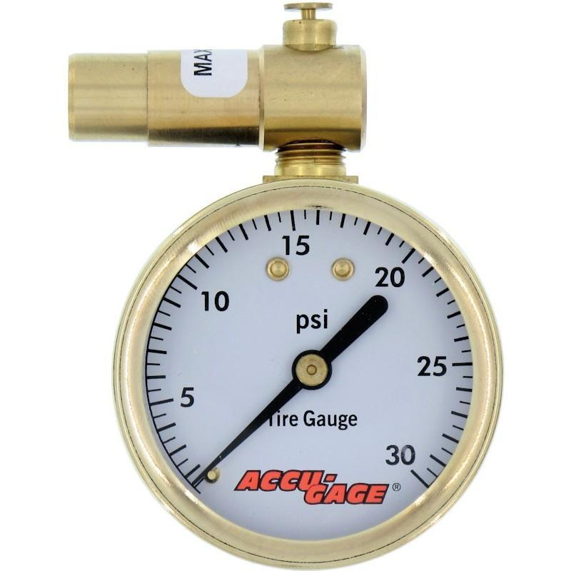 Meiser Accu-Gauge 0-15psi PRESTA Valve Low PSI Tire Gauge Dial Gage Fat Bike