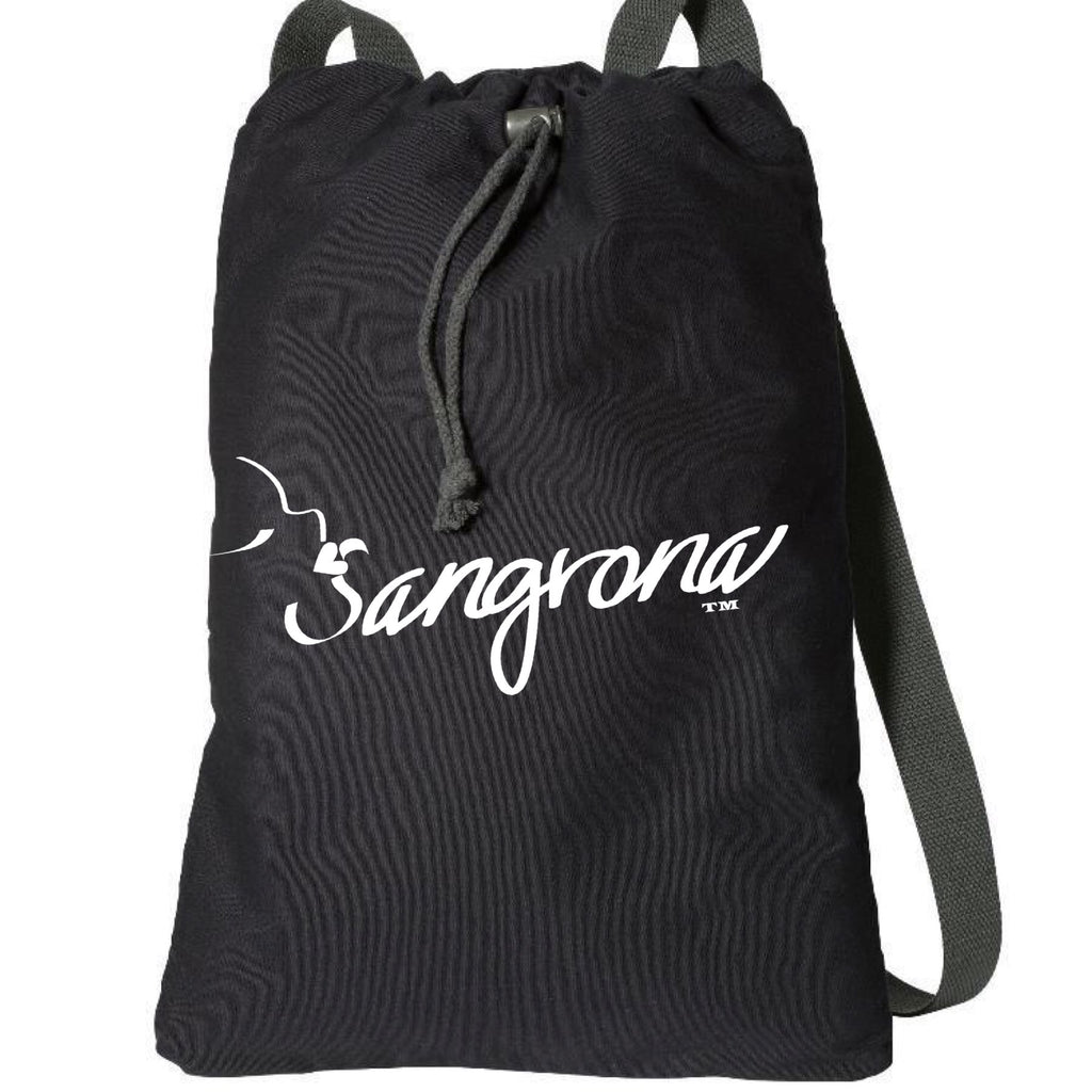 Sangrona Black Cotton Sporty Backpack