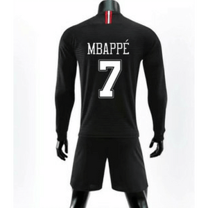 213aec5a9 Jordan Paris Saint-Germain Mbappe Black Long Sleeve Jersey