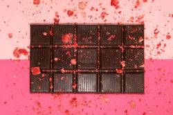 Strawberry Gel Tablet Chocolate Block