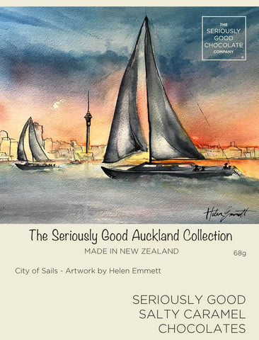 Auckland Watercolour City of Sails – 4 Box