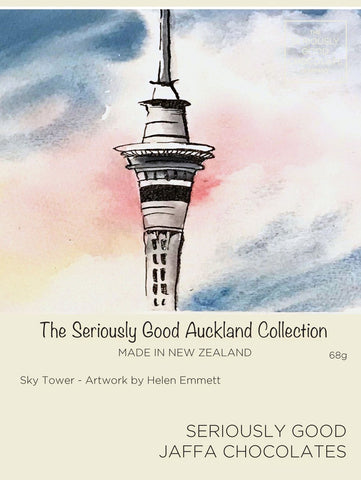 Auckland Watercolour Sky Tower – 4 Box