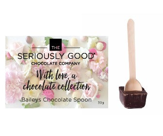 Baileys Handmade Chocolate Spoon indulgent valentines with love