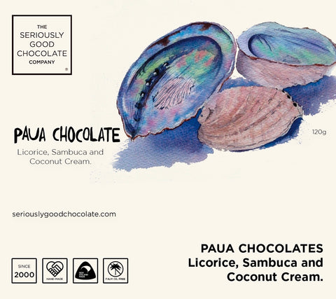 Paua chocolates – Log box