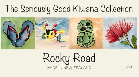 rocky road kiwiana watercolour helen emmett artist chocolate