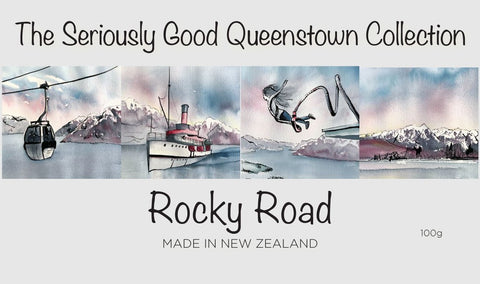 Queenstown Watercolour - Rocky Road