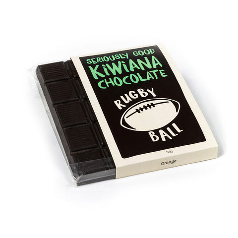 Kiwiana Rugby Ball Chocolate Tablet Bar
