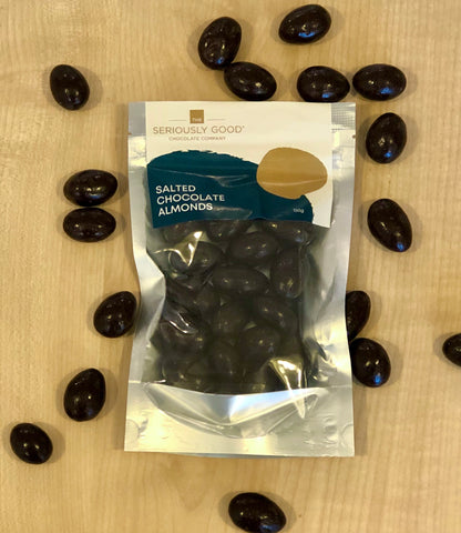 Chocolate Coated Salted Almonds  - Pouch