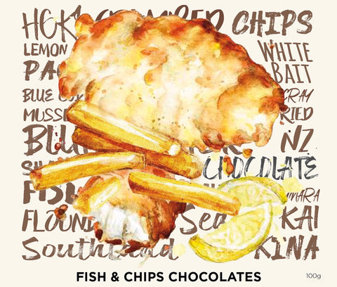 Fish and chips chocolates – Log box