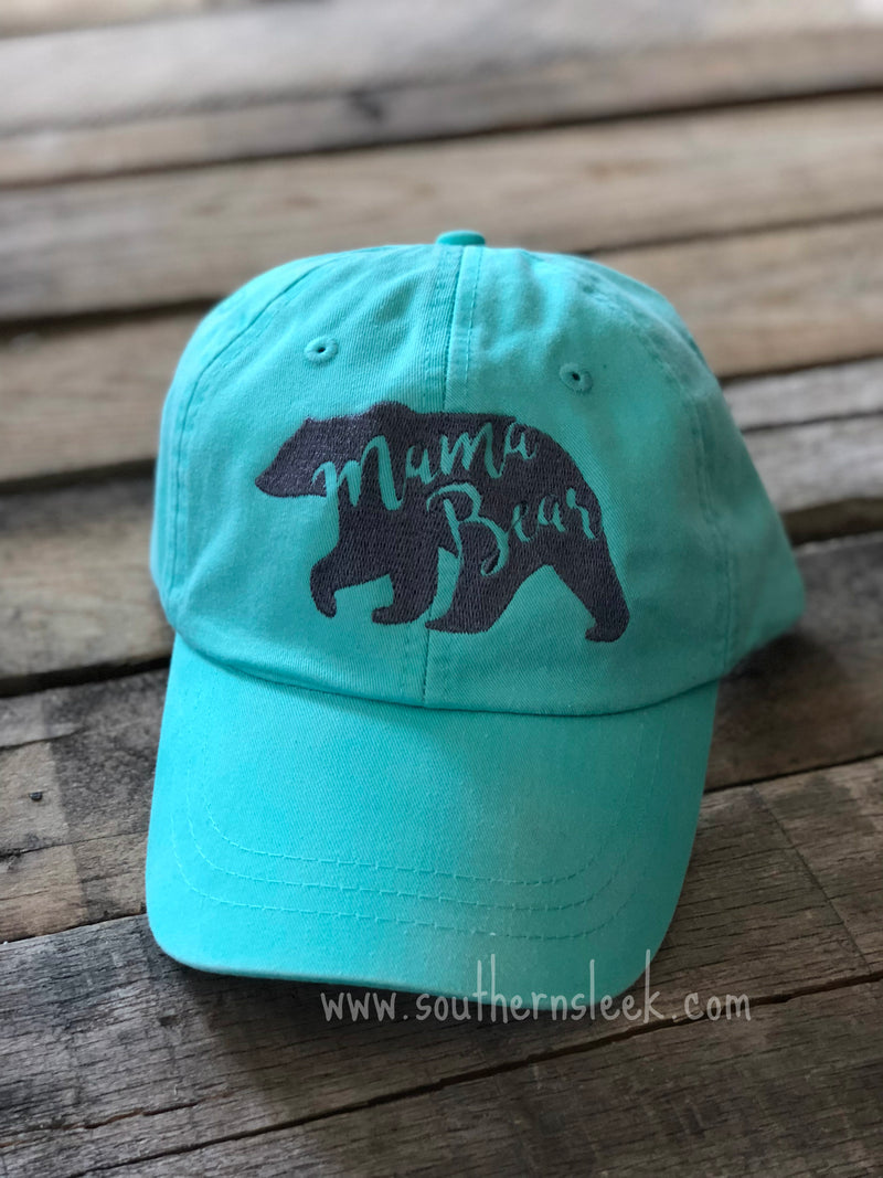 Mama Bear Mint Hat