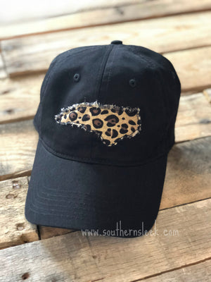 Black & Leopard State Outline Hat