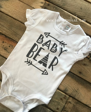 Baby Bear with Teepee Bodysuit