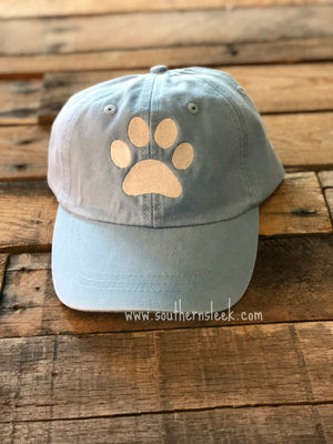 Dog Paw Print Blue Hat