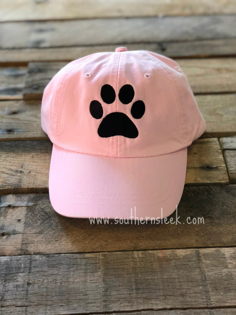 Dog Paw Print Pink Hat