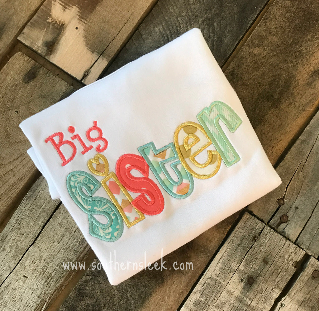 Big Sister Embroidered Shirt or Bodysuit