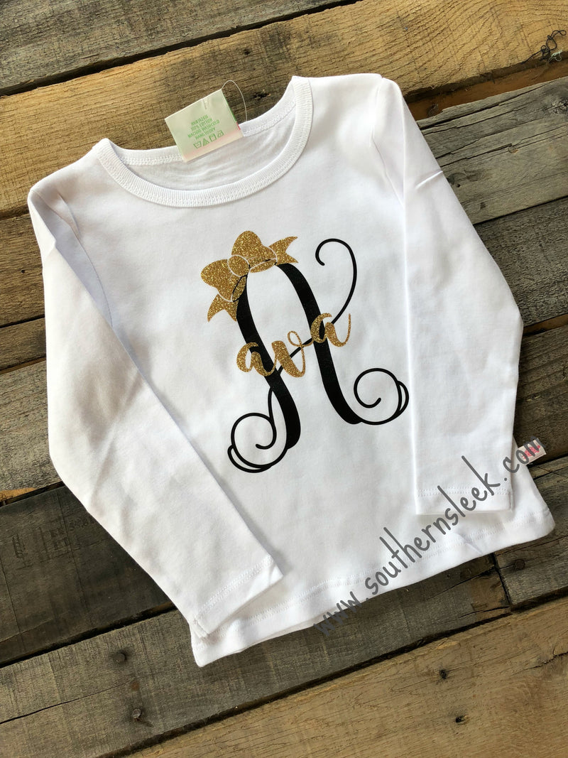 Black & Gold Personalized Shirt