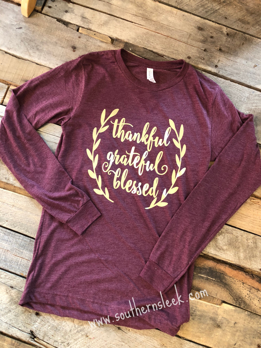 Thankful, Grateful & Blessed Long Sleeve Tee