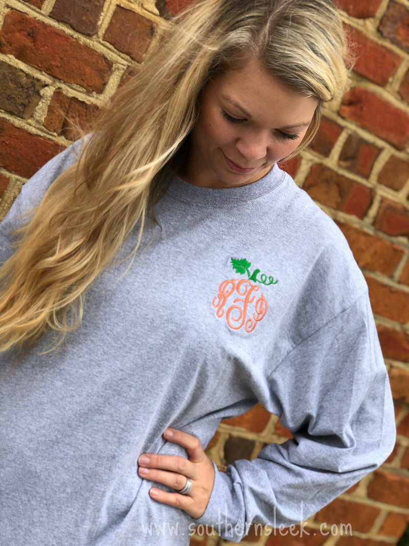 Pumpkin Monogrammed T-Shirt - Adult & Youth