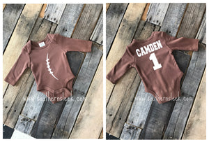 Football Personalized Shirt or Bodysuit