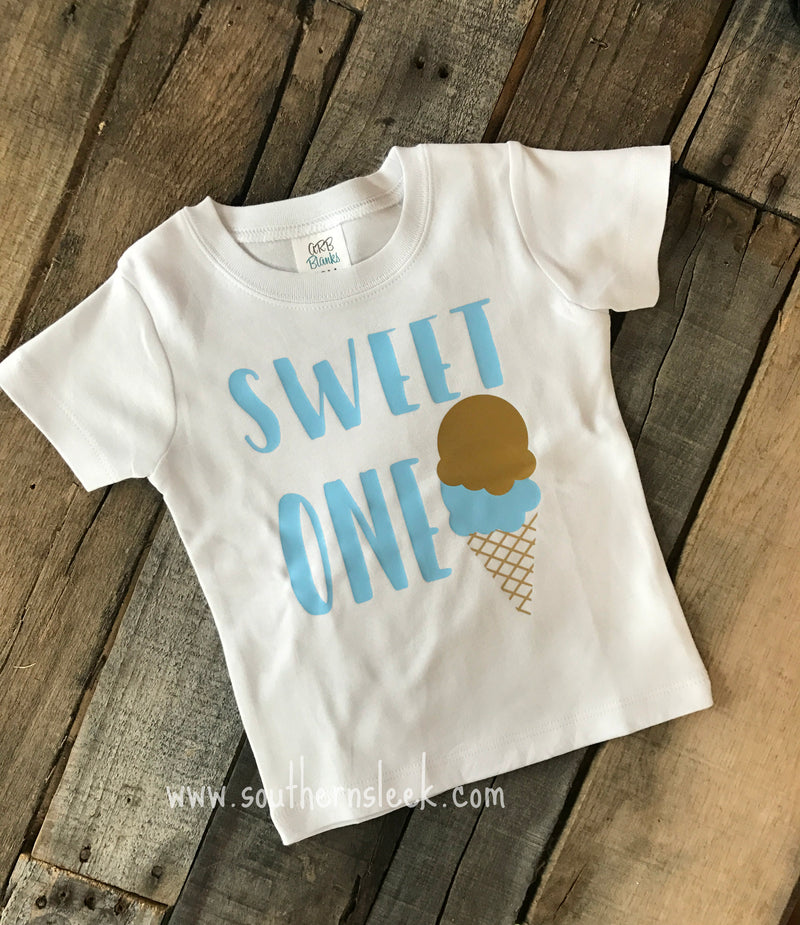 Sweet One Ice Cream Themed Shirt