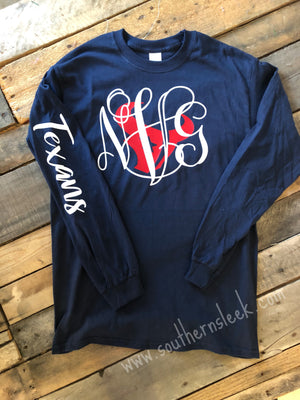 Houston Texans Monogrammed T-Shirt - Adult & Youth